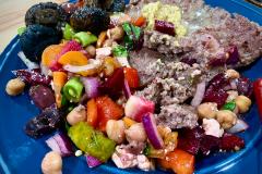 Elk and grilled veggies